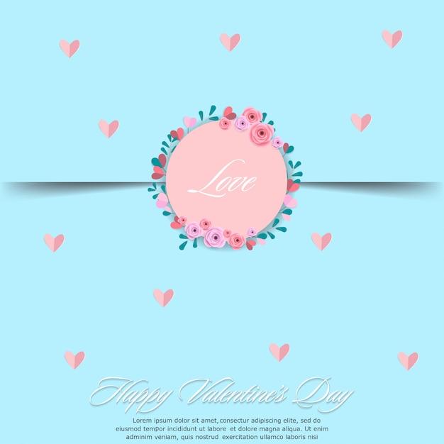 Joyeuses saint valentin cartes de voeux. Vecteur Premium