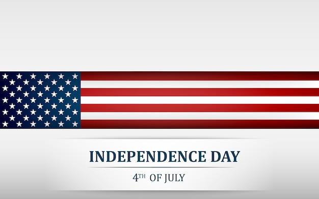 Joyeux 4 Juillet, Jour De L'indépendance Des états-unis. Le Quatre Juillet Vecteur Premium