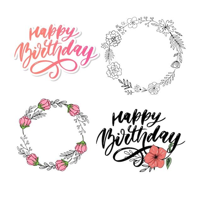 Joyeux anniversaire coloré. anniversaire, anniversaire. bannière de joyeux anniversaire. Vecteur Premium