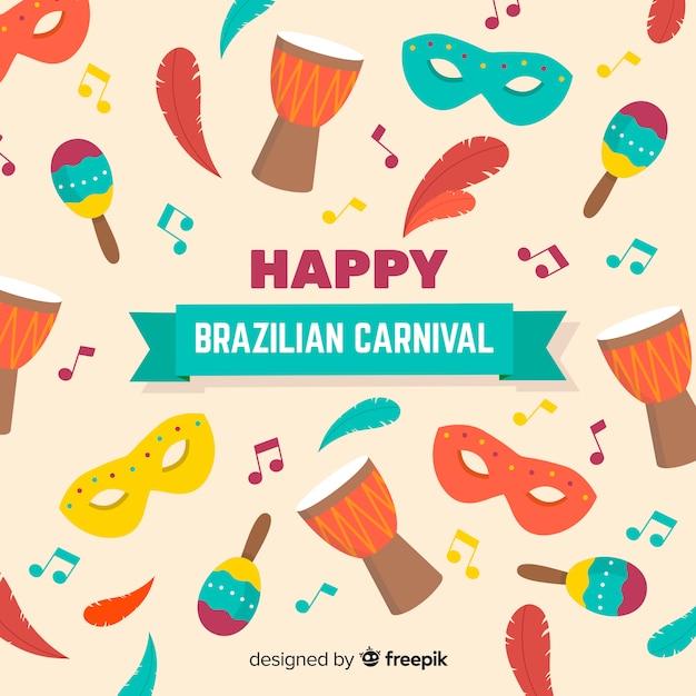 Joyeux carnaval brésilien Vecteur gratuit