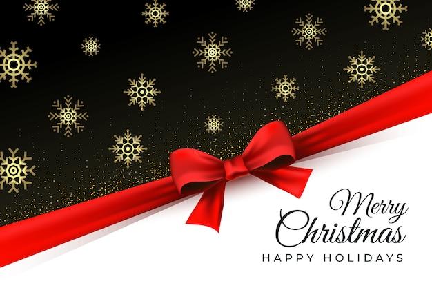 Joyeux Fond De Noël Avec Des Flocons De Neige Dorés Vecteur gratuit
