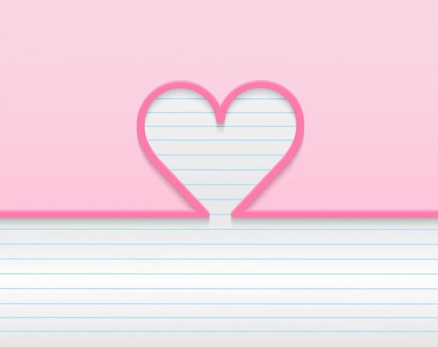 Joyeux Fond De Saint Valentin. Concevoir Avec Coeur. . Fond Rose. . Vecteur Premium