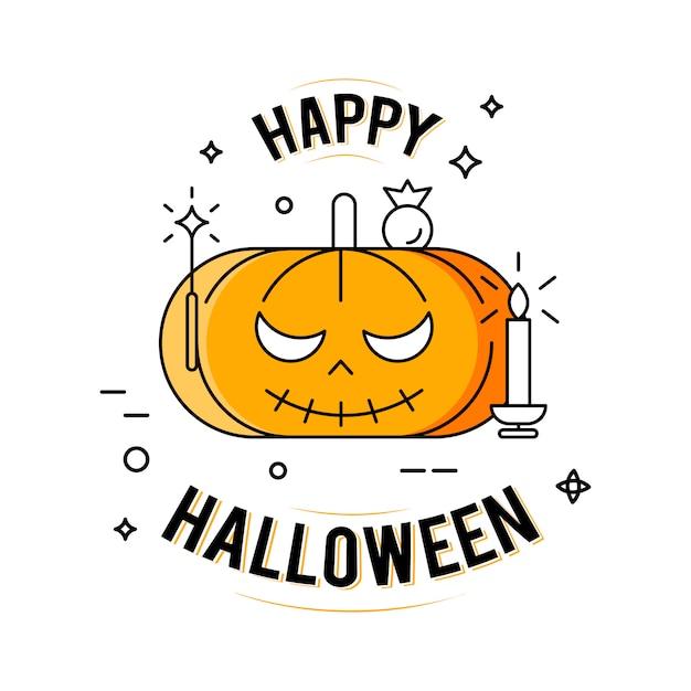Joyeux halloween. illustration sur le fond blanc Vecteur gratuit