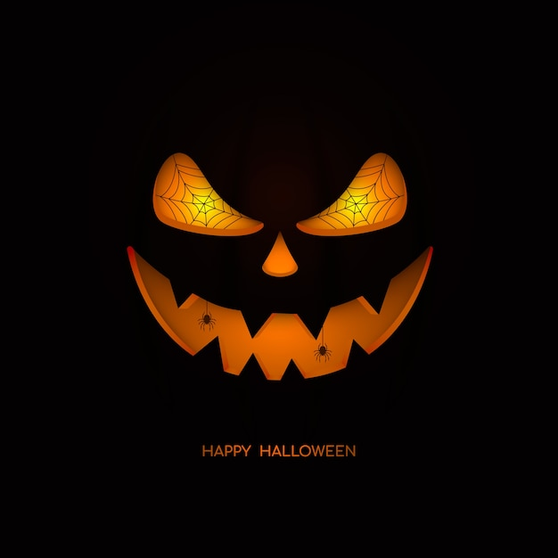 Joyeux Halloween. Visage De Citrouille Vecteur Premium