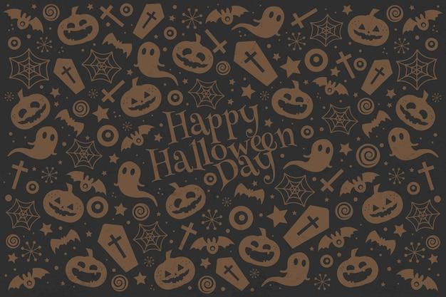 Joyeux Halloween Vecteur Premium