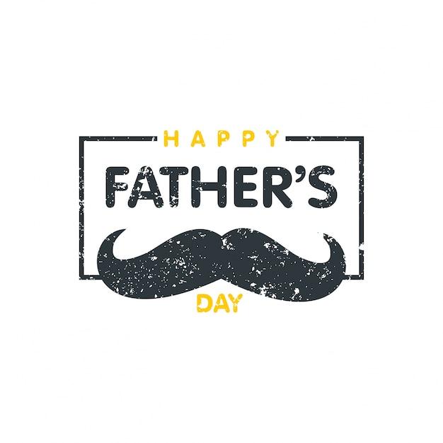 Joyeux jour des pères Lettres de timbres Joyeux jour des pères Vecteur gratuit