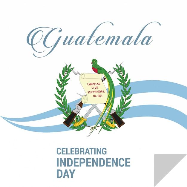 Joyeux jour de l'indépendance guatemala vector carte de voeux Vecteur gratuit