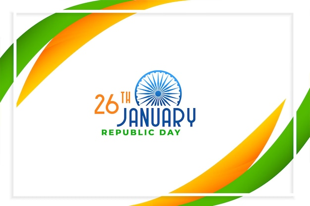 Joyeux Jour De La République De L'inde Design élégant Vecteur gratuit