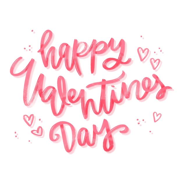 Joyeux Lettrage De La Saint-valentin Vecteur gratuit