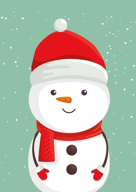 Joyeux Noël Bonhomme De Neige Personnage | Vecteur Gratuite