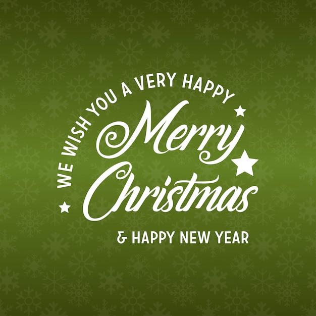 Joyeux Noël Et Bonne Année 2019 Fond Vert Vecteur gratuit