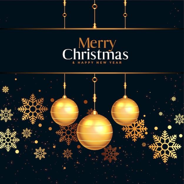 Joyeux Noël Et Bonne Année Carte De Voeux Vecteur gratuit
