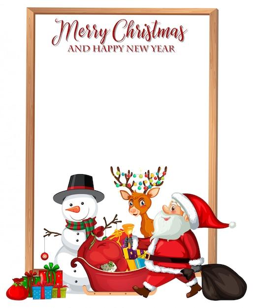 Joyeux noël et bonne année carte Vecteur gratuit