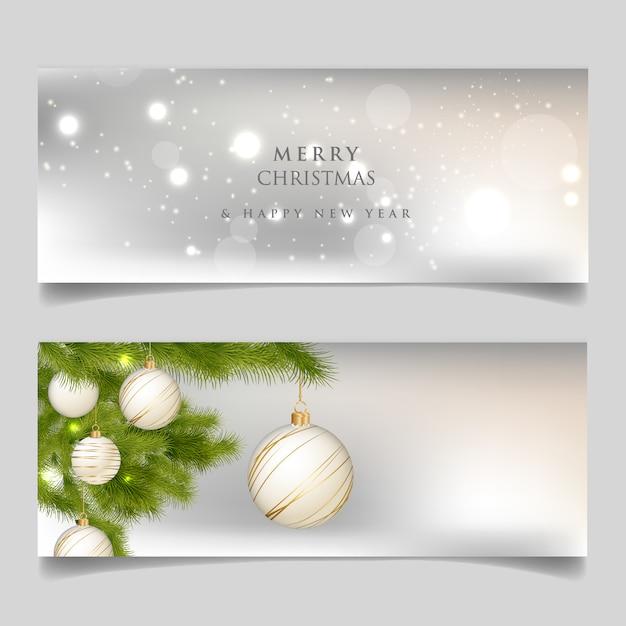 Joyeux noël et bonne année carte Vecteur Premium