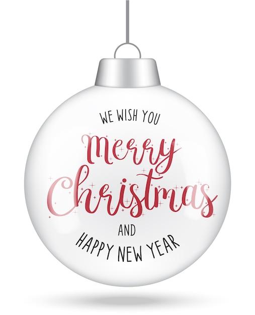 Joyeux Noël Et Bonne Année Conception De Cartes De Lettrage Dessiné à La Main Vecteur Premium