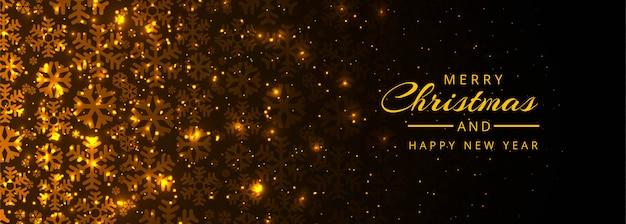Joyeux noël et bonne année modèle de bannière Vecteur gratuit