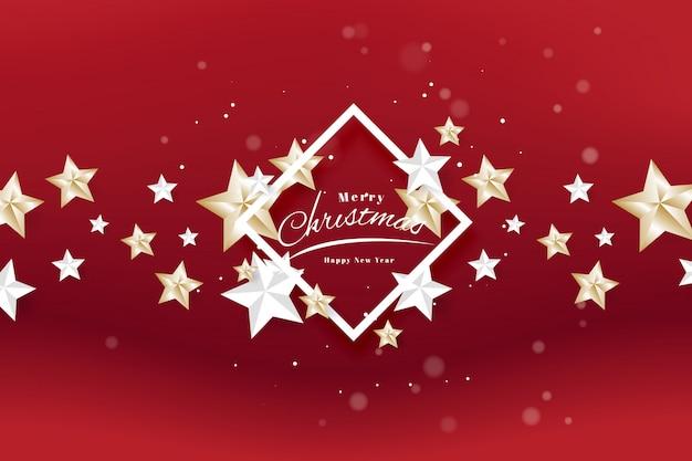 Joyeux Noël Et Bonne Année Modèle De Typographie Et Flyer De Carte De Voeux Vecteur Premium