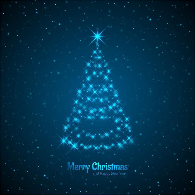 Joyeux Noël Carte Avec Un Arbre Décoratif Télécharger Des Vecteurs