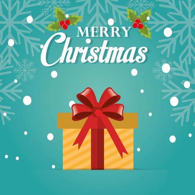 Joyeux Noël Carte Colorée Vecteur gratuit