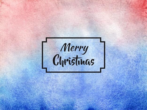 Joyeux Noël Fond Dans Un Style Aquarelle Vecteur Premium