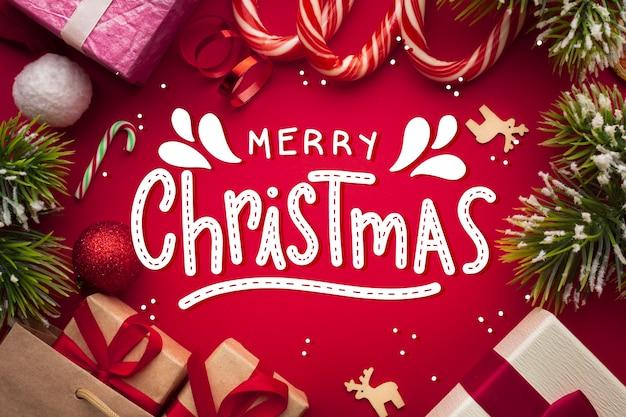 Joyeux Noël Lettrage Sur Noël Photo Vecteur gratuit