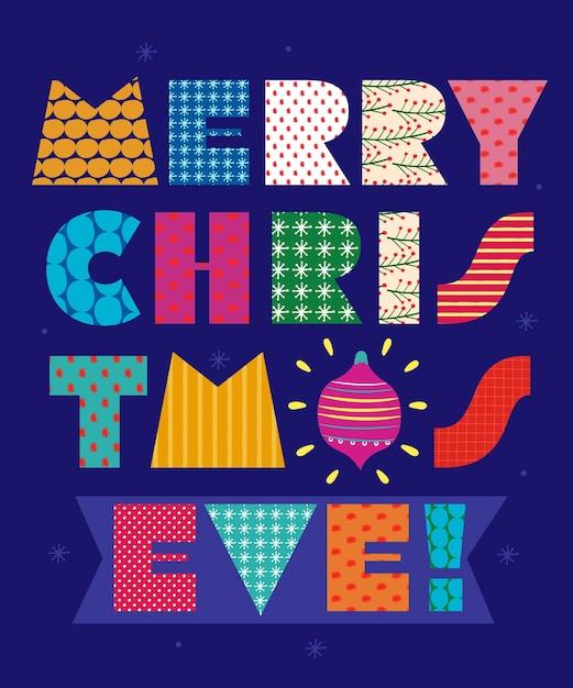 Joyeux Noël Lettrage Vecteur gratuit
