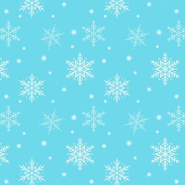Joyeux noël. motif flocon de neige sur fond bleu Vecteur Premium