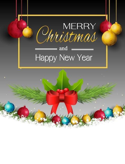 Joyeux Noel Et Nouvel An.Joyeux Noel Et Nouvel An Avec De Belles Boules Telecharger