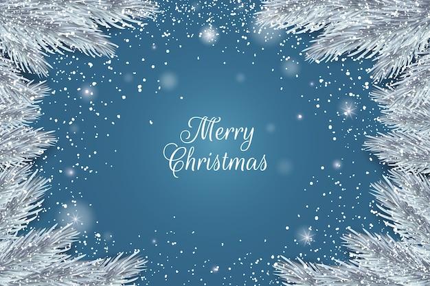 Joyeux Noël Réaliste Vecteur gratuit