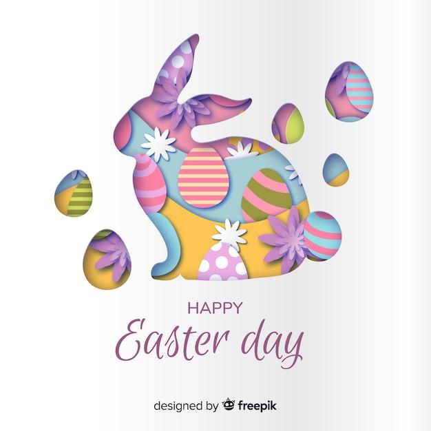 Joyeux pâques jour fond Vecteur gratuit