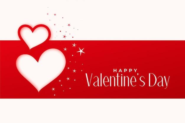 Joyeux saint valentin voeux conception de coeurs Vecteur gratuit