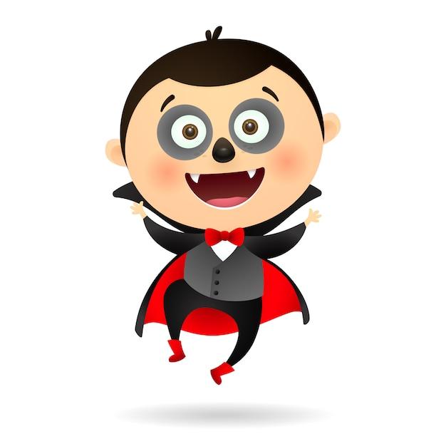 Joyeux vampire drôle Vecteur gratuit