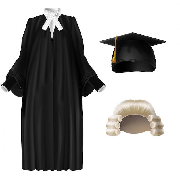 Juge, Professeur D'université, Vêtements De Cérémonie De Remise Des Diplômes Vecteur gratuit