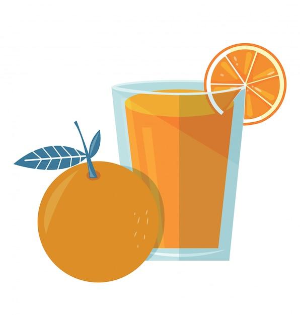 Jus d'orange Vecteur Premium