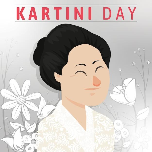 Kartini Day Hero Woman In Emancipation Vecteur gratuit