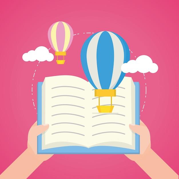 Kid à la journée mondiale du livre Vecteur gratuit