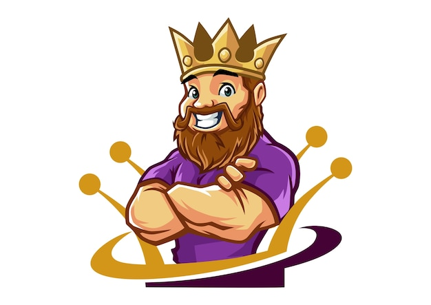 King john mascot design Vecteur Premium