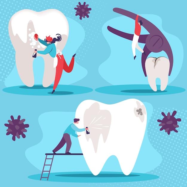 Kit De Santé Dentaire Vecteur Premium