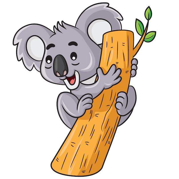 Koala cute cartoon Vecteur Premium
