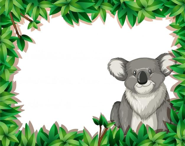 Koala en fond de nature Vecteur gratuit
