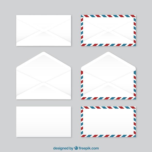 la collecte des enveloppes Vecteur gratuit