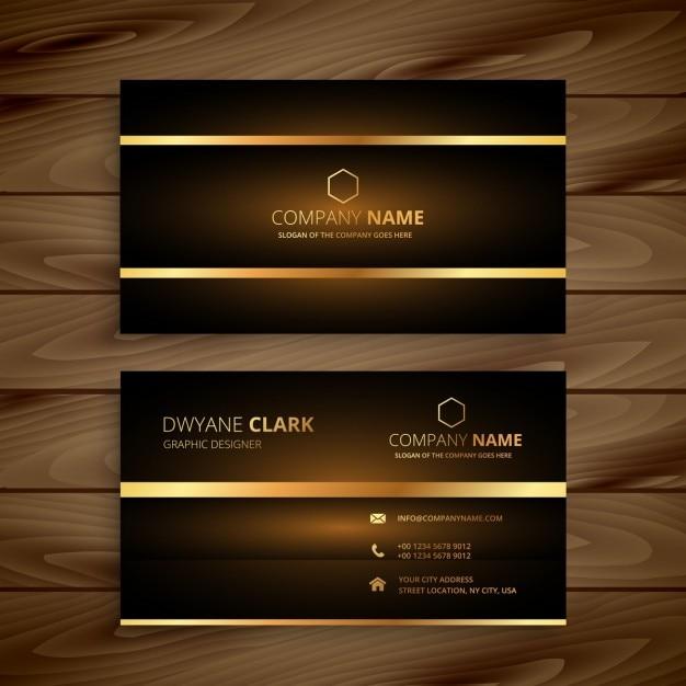 La conception de carte de visite de luxe haut de gamme ...