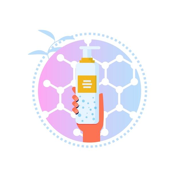 Label de bande dessinée pour lotion ou démaquillant Vecteur Premium