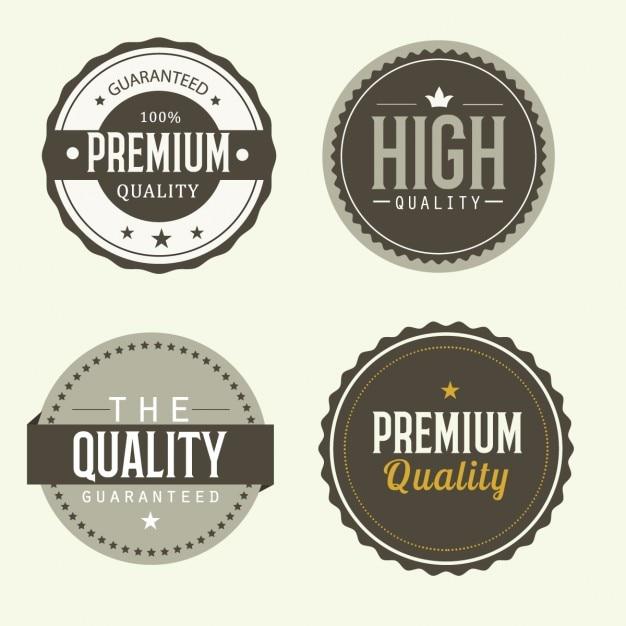 Labels de qualité Vecteur gratuit