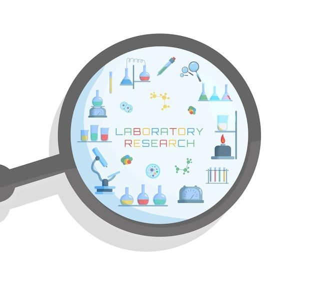 Laboratoire De Chimie Biologie De La Science Et De La Technologie Vecteur Premium