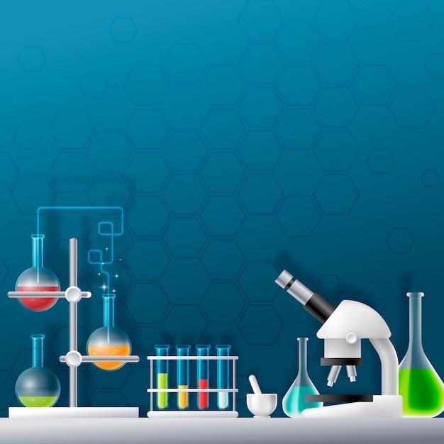 Laboratoire Scientifique Réaliste Créatif Illustré Vecteur gratuit