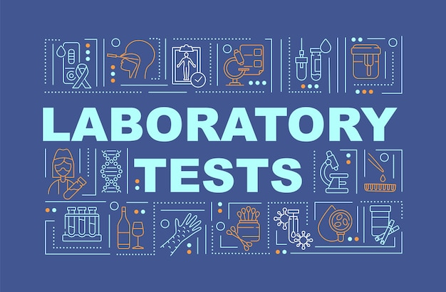 Laboratoire Tests Mot Concepts Bannières Illustrations Vecteur Premium