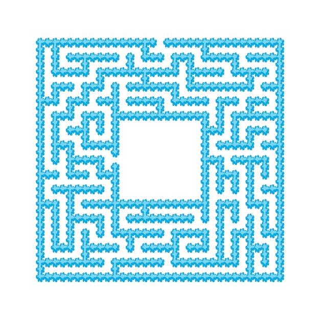 Labyrinthe abstrait. Vecteur Premium