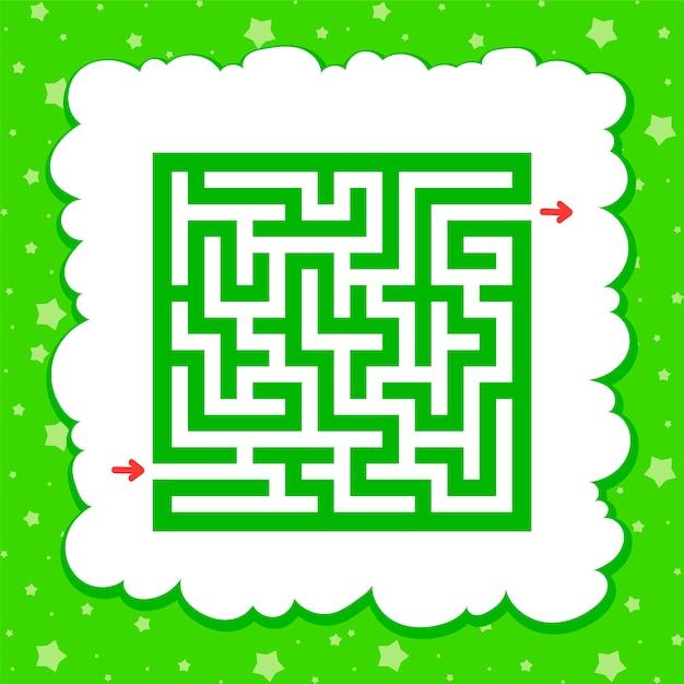 Labyrinthe Carré De Couleur. Jeu Pour Les Enfants. Puzzle Pour Enfants. Vecteur Premium