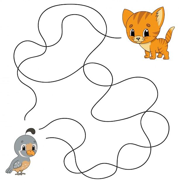 Labyrinthe. jeu pour les enfants. Vecteur Premium